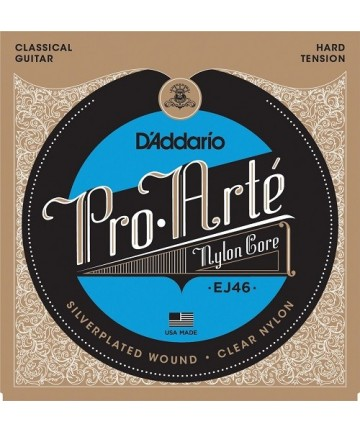 Juego de cuerdas guitarra clásica D'Addario - EJ-46 Pro Arte - Tensión fuerte