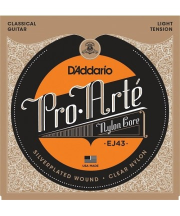 Juego de cuerdas guitarra clásica D'Addario - EJ-43 - Tensión suave