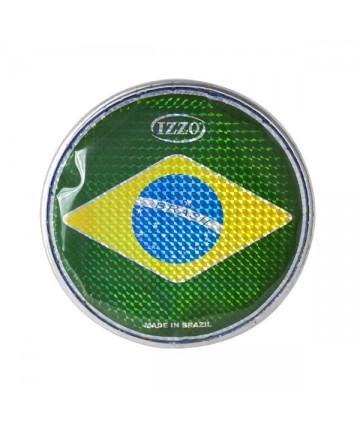 """Parche de nylon IZZO - 6"""" Bandera Brasil. Peso: 0,05Kg. Tamborim"""