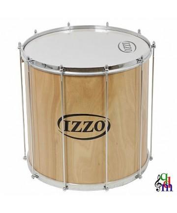 Surdo IZZO madera - 20X45cm 10 tensores - Peso: 4,74Kg - Parches de plástico