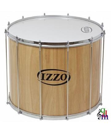 Surdo IZZO madera - 22X45cm 12 tenstores - Peso: 5,21Kg - Parches de plástico