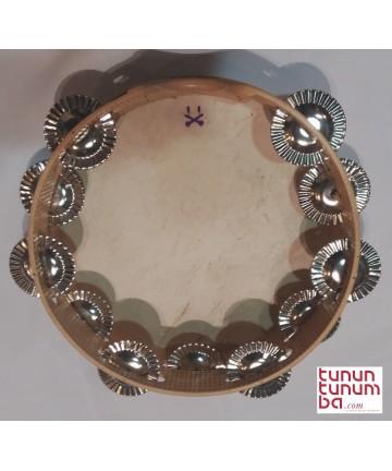 Pandereta gallega tradicional - 11 pares de sonajas 27cms de diámetro x  6,8 cms de marco Peso: 350gr