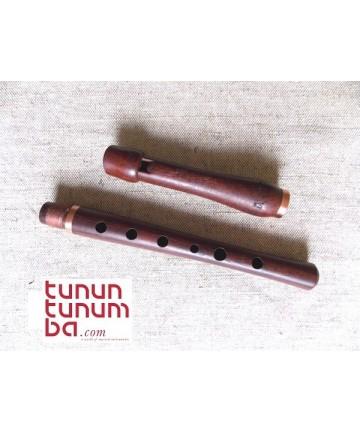Whistle afinable - Madera de palo de rosa - en Do - Longitud: 33cm.