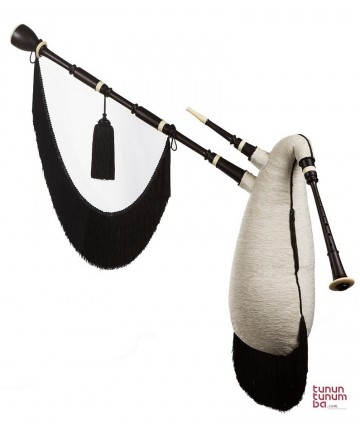 Standard Galician Bagpipes in G - Blackwood finish