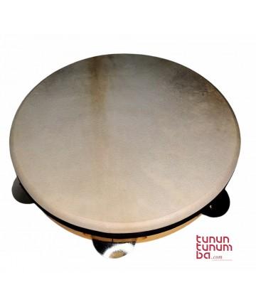 Pandereta tradicional afinable - 24cm diámetro
