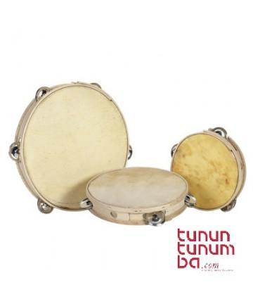 Pandereta tradicional - sencilla 20cms. (1 fila sonajas)