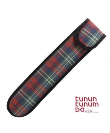 Funda flauta acolchada cuadros 35cms