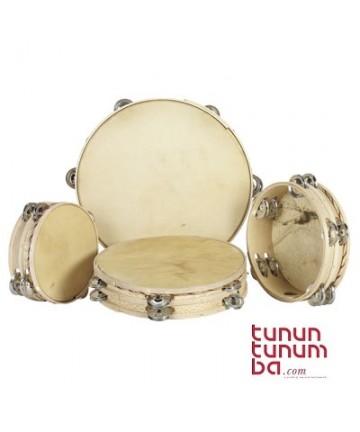 Pandereta tradicional - doble de 25cm cosida (2 filas de sonajas)