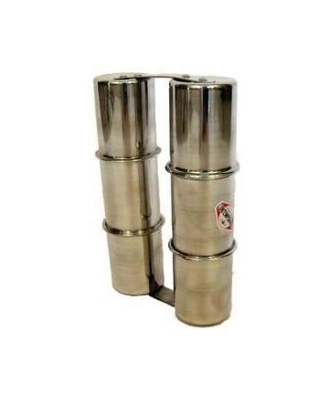 Ganza CONTEMPORANEA de aluminio - doble mediana 5,4 x 24 cm.