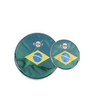 Parche de nylon Bandera De Brasil. Contemporánea. - 10 Pulg.