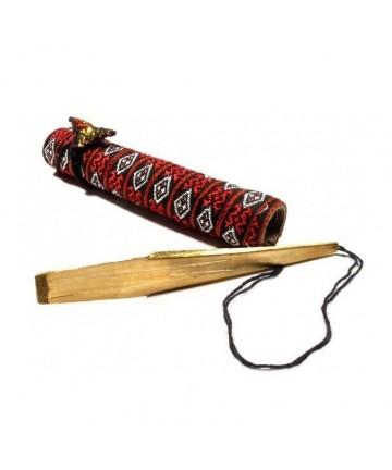 Arpa de boca Ken Moi doble estuche de bambú
