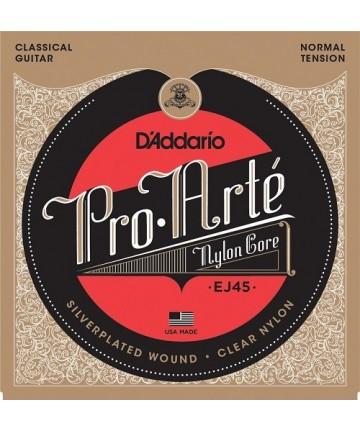 Juego de cuerdas guitarra clásica D'Addario - EJ45 Pro-Arte -Tensión normal