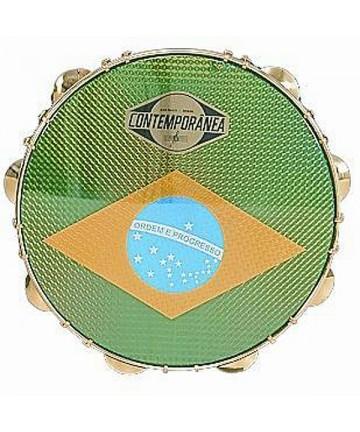 Pandeiro CONTEMPORANEA 10 Pulg. formica - Parche bandera Brasil